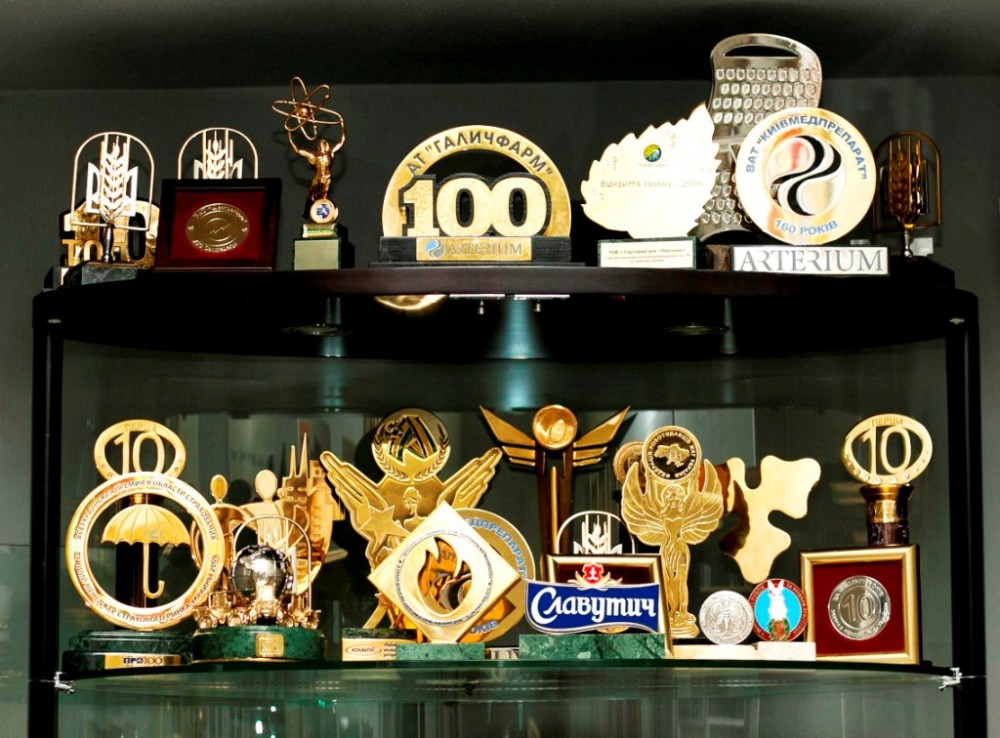 Metal trophies and souvenirs